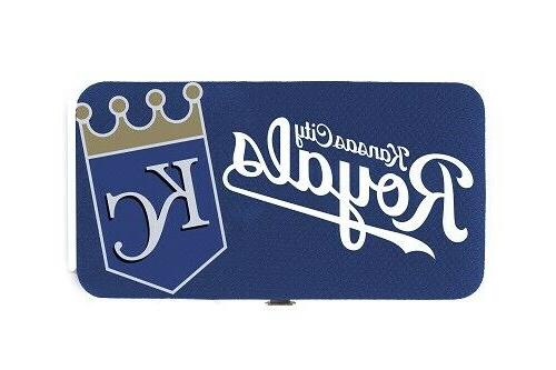 kansas city royals ladies clamshell mesh wallet