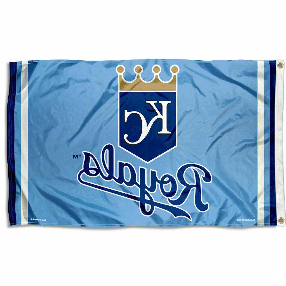 kansas city royals logo 3x5 banner flag