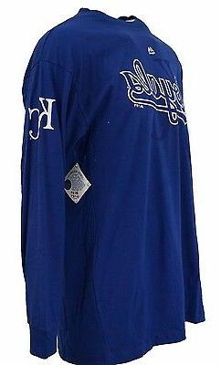 Kansas City Royals Men's Blue MLB Majestic Long Sleeve T-Shi