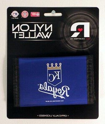 kansas city royals mlb nylon trifold wallet