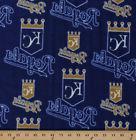 Kansas City Royals MLB Team Baseball Fleece Fabric Print by
