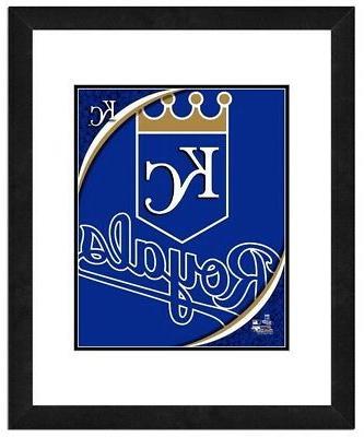 kansas city royals team logo framed print