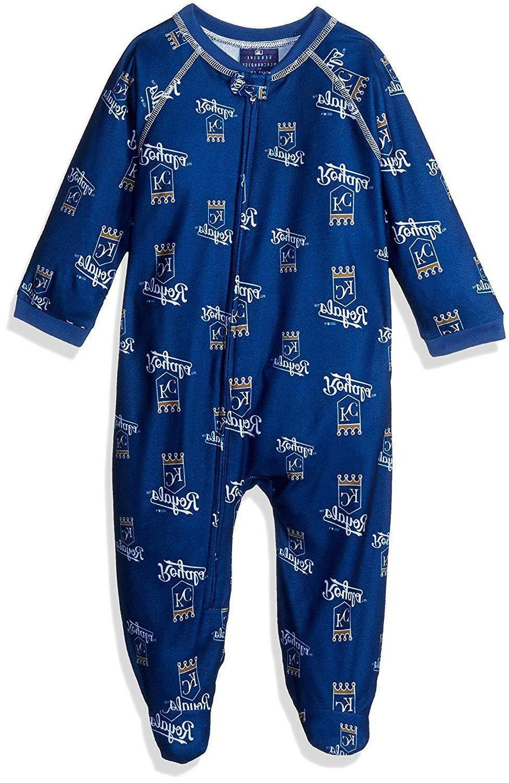 mlb kansas city royals infant sleepwear zip