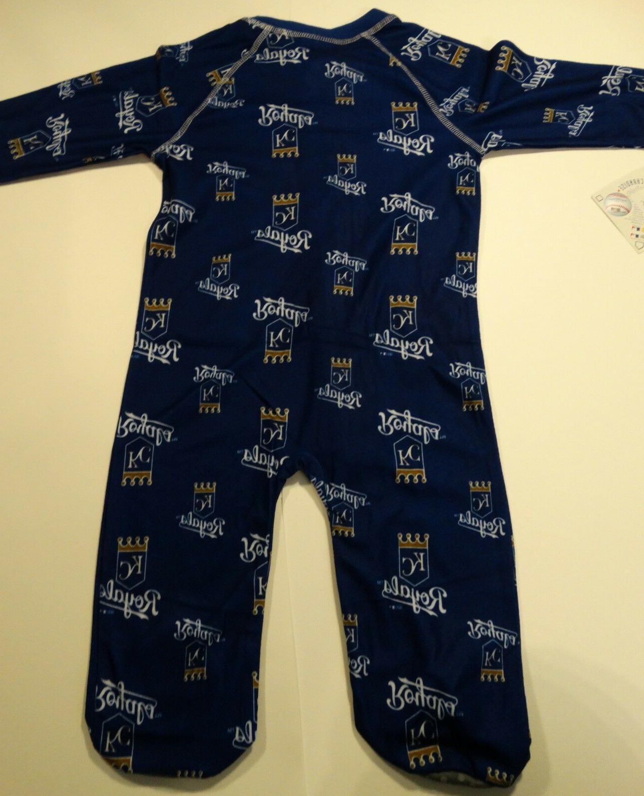 NWT Royals Infant Navy Zip Sleepwear