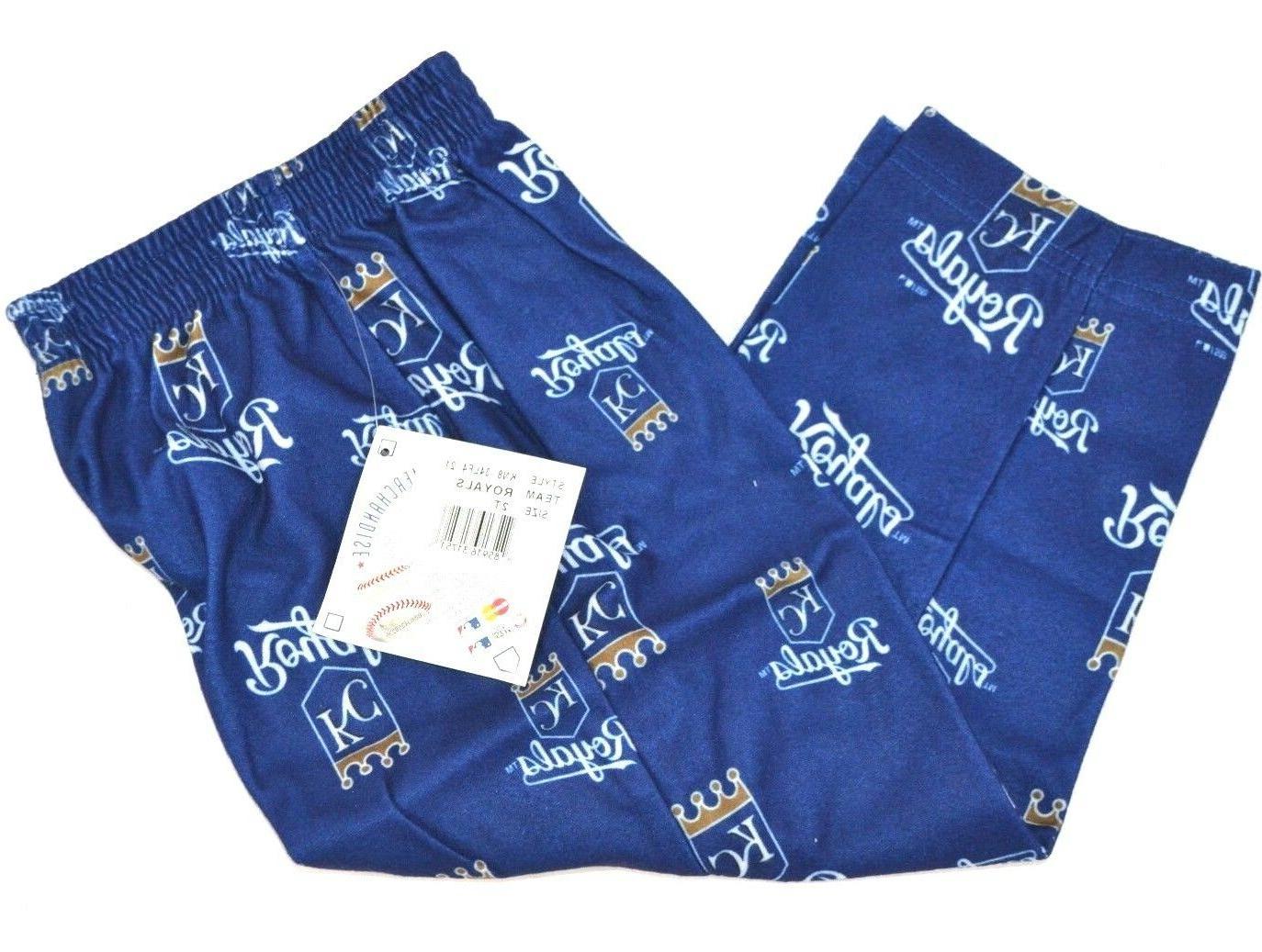 MLB Toddler Royals Sleepwear All Over Print Pant, 2T, Deep R