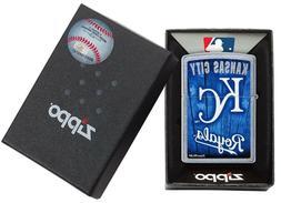 Zippo Lighter MLB KC Royals Kansas City Blue Genuine Zippo W
