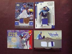 Lot of  Kansas City Royals jersey & bat relic cards & certif