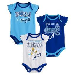 Outerstuff MLB Baseball Infants Kansas City Royals 3 pack Cr
