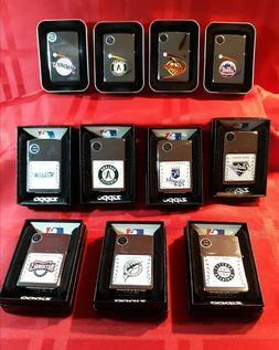 MLB GENUINE ZIPPO LIGHTERS  All New With Box