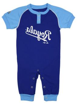 """Majestic MLB Infant Kansas City Royals """"Game Time"""" Coverall"""