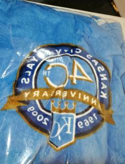 MLB Kansas City Royals 40th  Beach Towel Royal Blue One Size