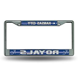 MLB Kansas City Royals Bling License Plate Frame, Chrome, 12