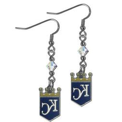 MLB Kansas City Royals Crystal Dangle Earrings Set J Hook Ch