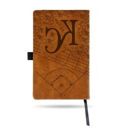 MLB Kansas City Royals Laser Engraved Leather Notebook - Bro