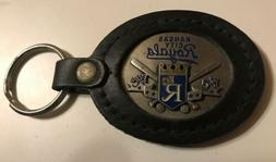 mlb kansas city royals leather keychain buckle