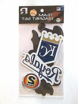 MLB Kansas City Royals Manget Set 2-Pack Team Decal Vinyl Wa