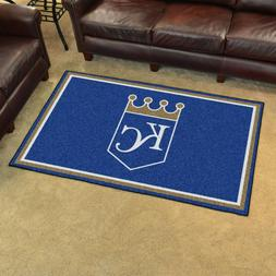 FANMATS MLB Kansas City Royals Nylon Face 4X6 Plush Rug