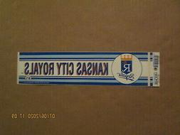 MLB Kansas City Royals Vintage Ciirca 1980's Team Logo Baseb