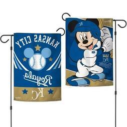 New Disney Mickey Mouse Kansas City Royals 2 Sided 12.5 X 18