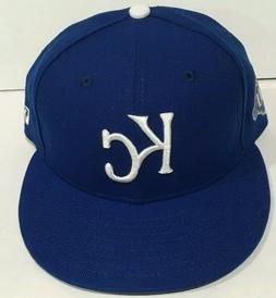 NEW FITTED 2018 KANSAS CITY ROYALS 50th ANNIVERSARY ON FIELD