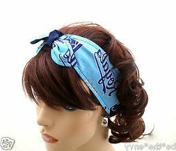 New KANSAS CITY ROYALS Baseball MLB Hair Tie Wrap Headband P