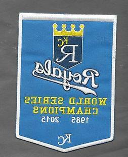 New Kansas City Royals Championship 'Banner' 5 X 7 Iron on P