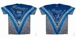 New KANSAS CITY ROYALS Tie Dye V Dye T-Shirt  MLB Licensed A