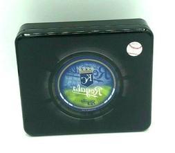 New Kansas City Royals Tri-fold Leather Wallet In Tin Box