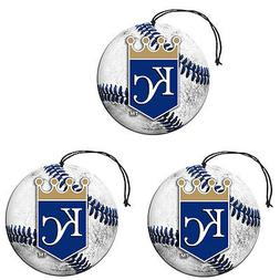 New MLB Kansas City Royals Paper Hanging Air Freshener 3 pac