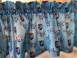 NEW MLB KC Kansas City Royals Baseball Sports Valance Curtai
