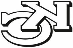 nfl090 Kansas City Chiefs KC Die Cut Vinyl Graphic Decal Sti