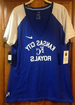 NWT NIKE Kansas City Royals Shirt Women's XXL Baseball MLB K