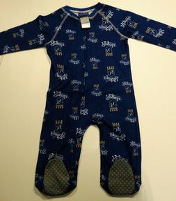NWT MLB Kansas City Royals Infant 24 Months Navy Zip Up Cove