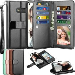 For Samsung Galaxy S7 / S8 / S9 / S10 Plus Case Wallet Card