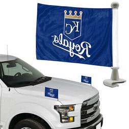 "TWO   KANSAS CITY ROYALS  4"" x 6""  CAR OR TRUNK FLAGS FROM T"
