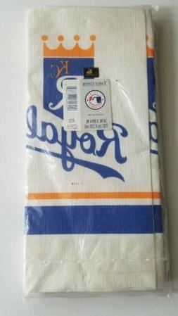 Vtg Kansas City Royals PAPER TABLE COVER Party Cloth Hallmar