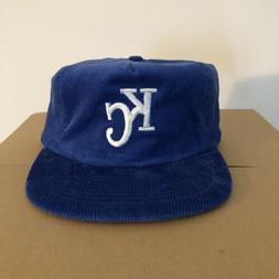 vtg NEW Kansas City Royals Corduroy Hat Strapback KC Snapbac