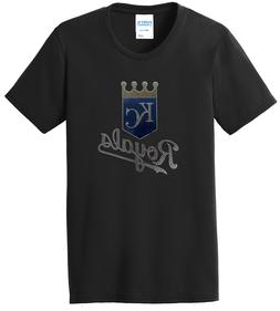 Women's Kansas City Royals Ladies Bling T-Shirt Crew Shirt T